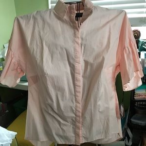 NWT Pink bell sleeve blouse